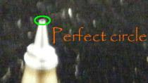 The nozzle should be a true, perfect circle.