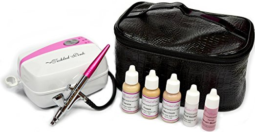 This popular airbrush makeup kit uses water-based makeup to provide even, poreless coverage. The makeup is even infused with aloe juice to ensure the ...