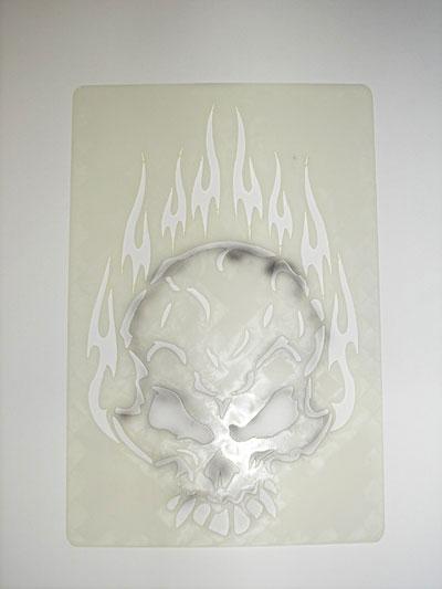 How To Airbrush Skull Using Simple Skull Stencil - Airbrush Guru